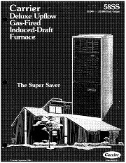 Carrier 58SS 2P Gas Furnace Owners Manual page 1
