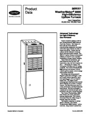 Carrier 58WAV 5PD Gas Furnace Owners Manual page 1