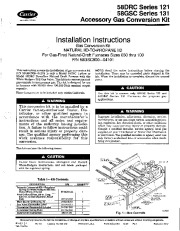 Carrier 58DRC 58GSC 3SI Gas Furnace Owners Manual page 1
