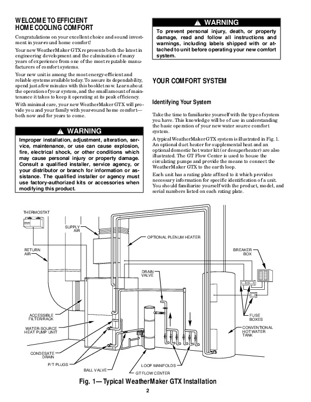 Carrier 50yb 1 Heat Air Conditioner Manual