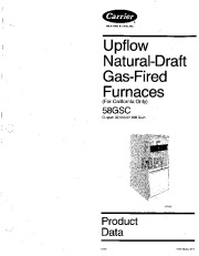 Carrier 58GSC 3PD Gas Furnace Owners Manual page 1