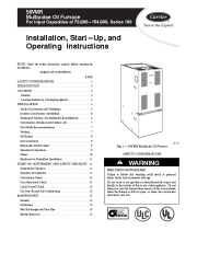 Carrier 58VMR 3SI Gas Furnace Owners Manual page 1