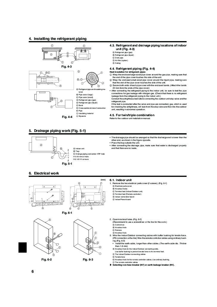 Air conditioners slim conditioner installation manual mitsubishi.