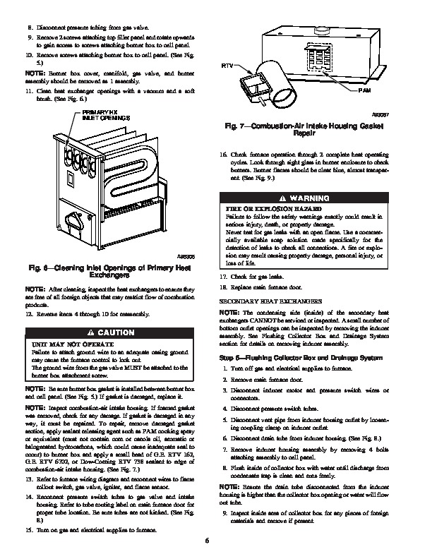 Carrier 58msa 7sm Gas Furnace Owners Manual