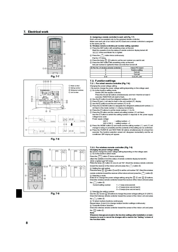 mitsubishi electric air conditioner instructions