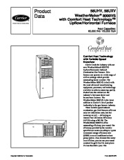 Carrier 58UHV 3PD Gas Furnace Owners Manual page 1