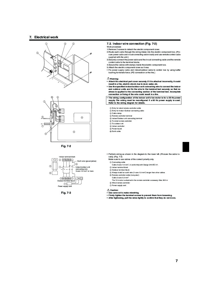 mitsubishi mr slim sez ka35 ka50 ka60 ka71va ducted air conditioner installation manual