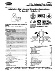 Carrier 58MCA 5SI Gas Furnace Owners Manual page 1
