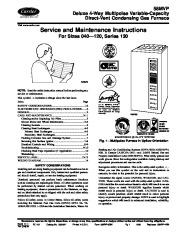 Carrier 58MVP 5SM Gas Furnace Owners Manual page 1