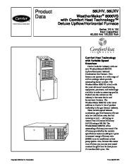 Carrier 58UHV 4PD Gas Furnace Owners Manual page 1