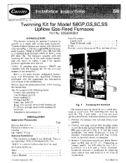 Carrier 58SS 4SI Gas Furnace Owners Manual page 1