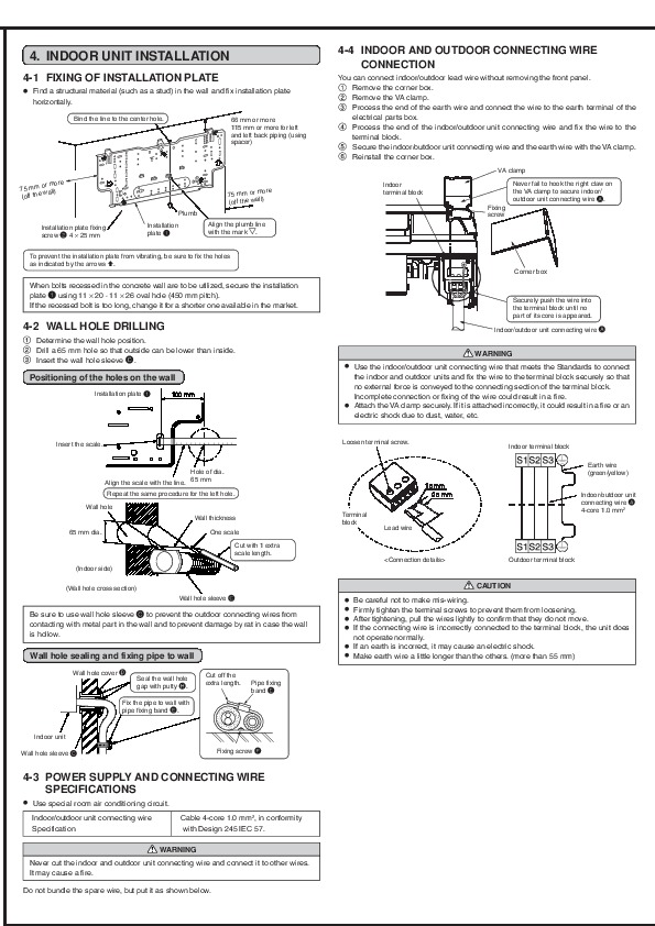Fine Mitsubishi Msz Ga22 Ga25 Ga35Va Muz Ga25 Ga35Va Wall Air Conditioner Wiring 101 Akebretraxxcnl