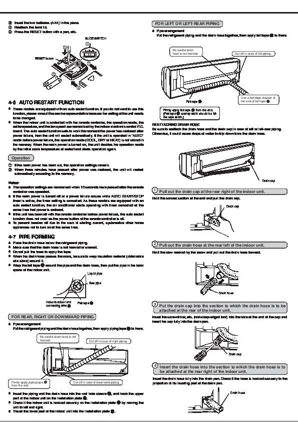 Mitsubishi Electric Owners Manual   4 Of 8