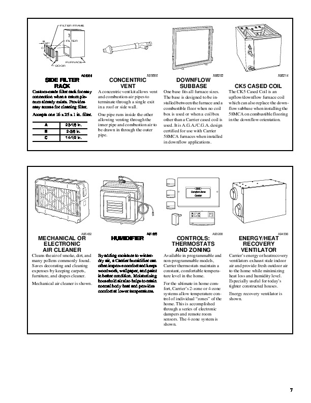 Carrier 58MCA 7PD Gas Furnace Owners Manual