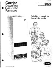 Carrier 58DS 1P Gas Furnace Owners Manual page 1