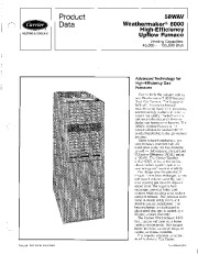 Carrier 58WAV 3PD Gas Furnace Owners Manual page 1