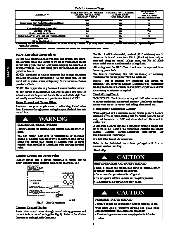 Carrier 24acs 1si Heat Air Conditioner Manual