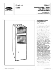 Carrier 58WAV 4PD Gas Furnace Owners Manual page 1