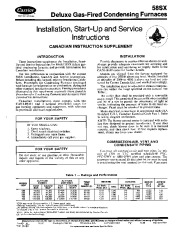 Carrier 58SX 5SIC Gas Furnace Owners Manual page 1
