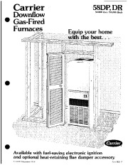 Carrier 58DP 58DR 1P Gas Furnace Owners Manual page 1