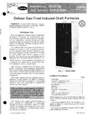 Carrier 58SS 1SI Gas Furnace Owners Manual page 1
