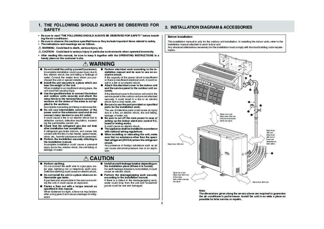 mitsubishi mxz 4a80va air conditioner installation manual rh filemanual com mitsubishi electric mr. slim owners manual mitsubishi electric puhy service manual