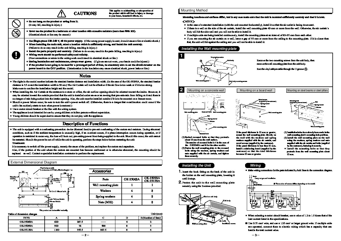 mitsubishi mr slim operating instructions