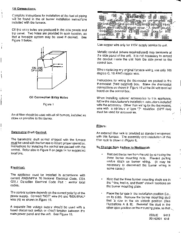 Carrier 58BTA 1SI Gas Furnace Owners Manual