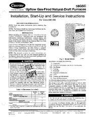 Carrier 58GSC 7SI Gas Furnace Owners Manual page 1