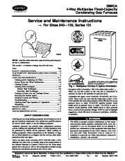 Carrier 58MCA 2SM Gas Furnace Owners Manual page 1
