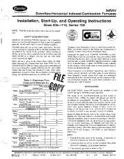 Carrier 58RA 3SI Gas Furnace Owners Manual page 1