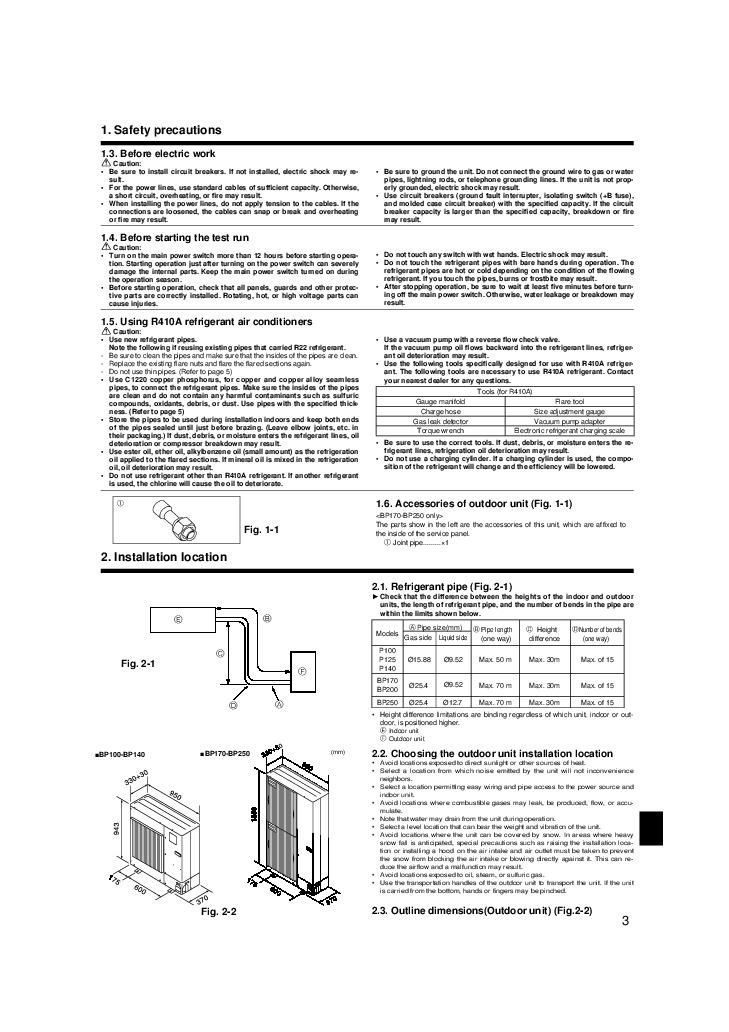 mitsubishi electric owners manual - 3 of 12