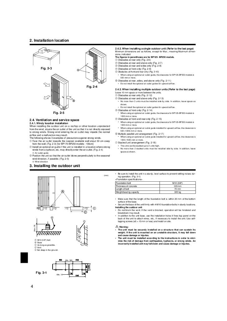 mitsubishi mr slim puhz bp ha air conditioner installation manual