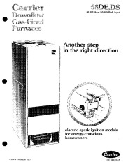 Carrier 58DE 58DS 1P Gas Furnace Owners Manual page 1