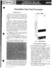 Carrier 58DS 1SI Gas Furnace Owners Manual page 1