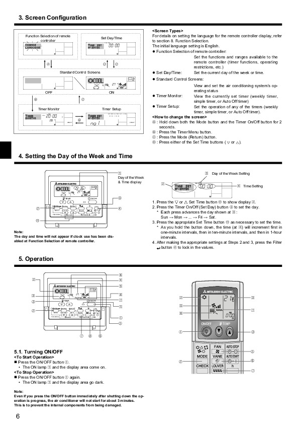Mitsubishi Electric Owners Manual   6 Of 260
