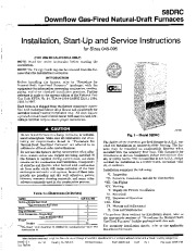 Carrier 58DRC 4SI Gas Furnace Owners Manual page 1