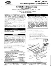 Carrier 58DRC 58GSC 2SI Gas Furnace Owners Manual page 1