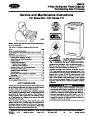 Carrier 58MCA 1SM Gas Furnace Owners Manual page 1