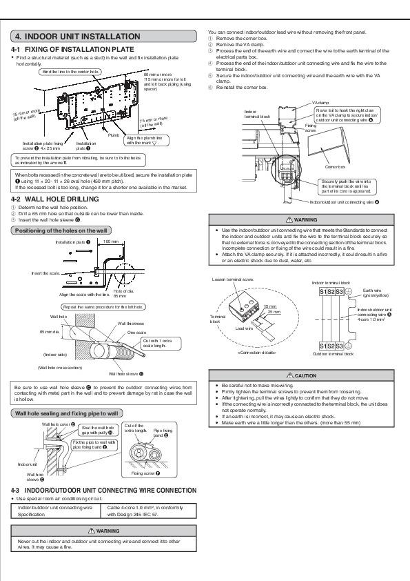 Installation manual Air Conditioner Mitsubishi mr Slim
