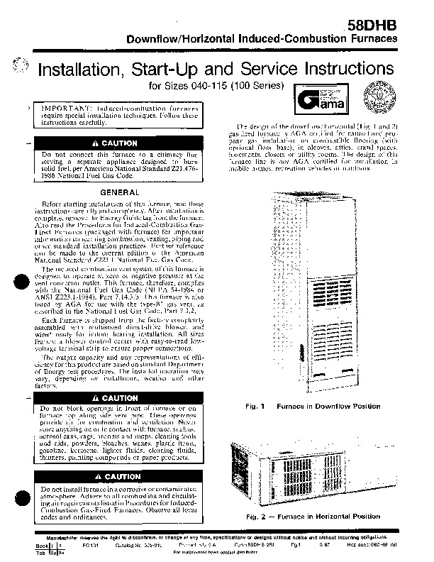 Carrier Fe4anf002 Installation manual