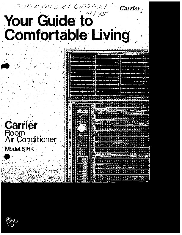 Carrier Ac User manual
