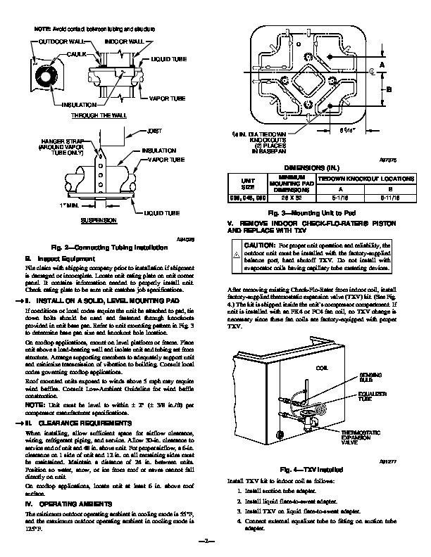 Bryant fb4anf030 Air Conditioner manual on