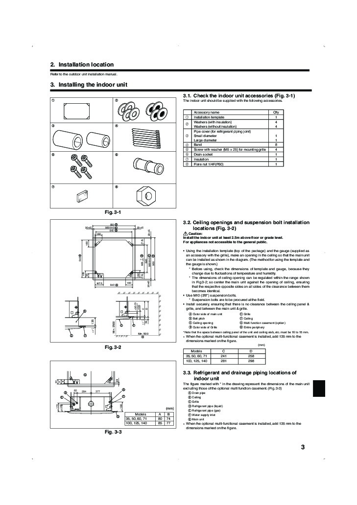 Service manual mitsubishi air conditioner General Split system